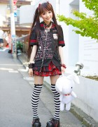 h.NAOTO Gothic Harajuku Style w/ Twin Tails, Striped Socks & Bunny