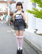 Black & White Summer Layering w/ Nadia, WEGO & Spinns Harajuku