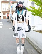 Qiss Qill Designer in Harajuku w/ Pink-Blue Hair, FRESH.I.AM, YRU & Harness