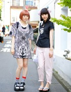 Harajuku Girls w/ I Tokyo Me, Cheongsam Top, Sandals & Shark Socks