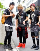 Harajuku Guys w/ Bandanas, Crosses & Sneakers in L.A.T.H.C., Givenchy, Pyrex & MCM