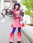 DJ Bazookistan w/ Takuya Angel Claws & Cyber Hair Falls in Harajuku