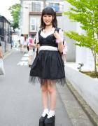 Lace Corset, Kinji Tutu, Platform Sneakers & Nadia Harajuku Accessories