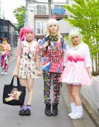 Harajuku Girls in Colorful Fashion w/ Milklim, Qiss Qill & Bunkaya Zakkaten