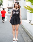 Bubbles Harajuku Tattoo Top, Nadia Dress & GRL Seashell Purse