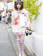 Decora Hair Clips & Colorful Fashion w/ Candy Stripper, 6%DOKIDOKI in Harajuku