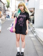 Green Ombre Hair, Faline T-Shirt & Nylon x American Apparel Tote Bag in Harajuku