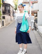 Cute Short Hairstyle & Headscarf w/ Lagimusim Bag & Resale Fashion in Harajuku