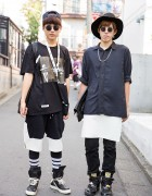 Harajuku Guys in Streetwear by Off-White, ADYN, SPX & Rick Owens