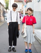 Harajuku Duo w/ Suspenders, Dr. Martens, N'Shukugawa BOYS Tote & Tommy