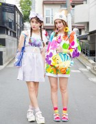 Harajuku Sisters in Colorful Disney Fashion w/ 6%DokiDoki, Angelic Pretty & WEGO
