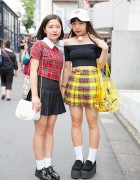 Pleated Skirts & Plaid from Bubbles Harajuku & Aymmy In The Batty Girls