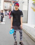Harajuku Guy w/ Red Hair, Graphic WEGO Fashion, Beanie & Loafers