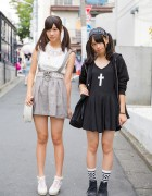 Twin Tailed Harajuku Girls w/ Cross Dress, Suspender Skirt, Liz Lisa, Candy Stripper & Nadia