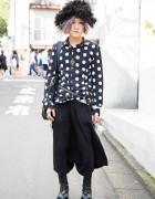 Harajuku Guy w/ Lilac Hair, ankoROCK Furry Hat, Polka Dots & Platform Boots