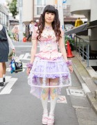 Pastel Harajuku Style w/ Lace Bird Cage Skirt, Magical Girl Knee Socks & Corset