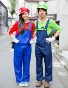Cute Mario Bros Costumes on The Street in Harajuku