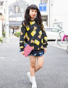 The Simpsons Style in Harajuku w/ Twin Tails, Joyrich & Converse