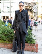 All Black Harajuku Look w/ Dior Homme, Damir Doma, Ann Demeulemeester & Cedric Jacquemyn