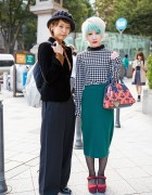 Harajuku Girls w/ Piercings, Aquamarine Hair, Wide Leg Pants & Vivienne Westwood