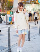Cute Milk Harajuku & Nile Perch Fashion w/ Unicorn Bag & Ribbon Laced Creepers