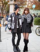 KTZ x Been Trill Jacket, Shinya Yamaguchi & Alice Black in Harajuku