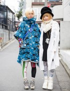 Wall Harajuku Jacket, Bernhard Willhelm Sneakers & Homeless Party Necklace