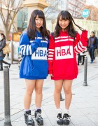 Harajuku Girls w/ Matching HBA Hoodies, Pokemon Backpack & WEGO