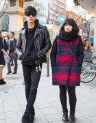 Christian Dada & Saint Laurent vs. Plaid Coat & Dr. Martens in Harajuku