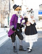 Harajuku Fox & Cat in Handmade Fashion, Body Line & Shimamura