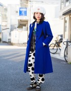 Pameo Pose Hat, Sankaku Harajuku Coat, New York Joe Exchange Top & Bubbles Choker
