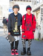 Harajuku Guys w/ Blue & Red Hair, DAMAGE, Demonia, KTZ & Long Clothing
