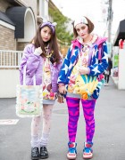 Harajuku Sisters in Ice Cream Tops, w/ 6%DokiDoki, Disney, WEGO & Swimmer Items