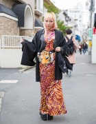 Animal Print, Kimono, Tiger Head Bag & YRU in Harajuku