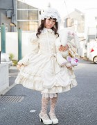 Baby, The Stars Shine Bright Lolita Style w/ Prism Paradise Bag & Plush Bunny