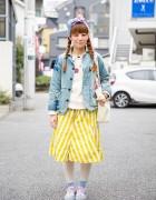 Harajuku Girl w/ Braided Tails, Bow Headscarf, Hanjiro, POU DOU DOU & New Balance