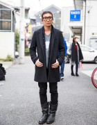 Harajuku Guy in High-Light Cavalet, Restir Surf Side, Tom Ford & Red Wing Boots