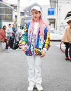 Pink Haired Girl w/ No! Jeans Sweater, Giza Top, Nike Sneakers & Chrome Hearts Accessories