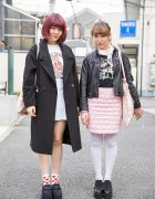 Harajuku Girls w/ Quilted Skirt, Platform Shoes, Milkfed, Panama Boy & Bubbles