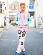 Harajuku Guy w/ Pink & Yellow Hair in 6%DokiDoki, Milkboy, RNA & Dress N Dazzle