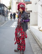 Air-K Records Owner in Sex Pot Revenge Harajuku Street Style