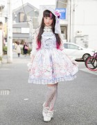 RinRin Doll Wearing Angelic Pretty Lolita Fashion in Harajuku