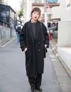Minimalist Harajuku Style w/ Junko Koshino Bag,  Ombre Hair & Vivienne Westwood