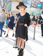 TOGA Sheer Dress, Jeffrey Campbell Skate & Air Jordan Backpack in Harajuku