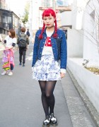 Kiko Mizuhara x Opening Ceremony Jacket, UNIF & Jeremy Scott in Harajuku