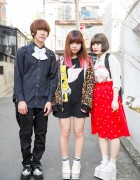 Harajuku Trio in WEGO, Spinns & Joyrich w/ Bart Simpson & Powerpuff Girls