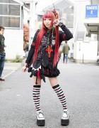 Morinoringo w/ Twintails, Sex Pot Revenge, MAD, h.NAOTO & Yosuke USA in Harjauku