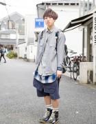 Harajuku Guy in Juvenile Hall Roll Call, Mihara Yasuhiro, Chubby Bros & Maison Martin Margiela