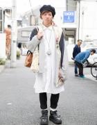 Harajuku Guy in Balmung Coat, Monomania Shirt & Belly Button Shoes