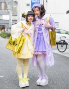 Harajuku Girls w/ Johnny's WEST Bags, Cute Plush Backpacks & San-biki no Koneko Fashion